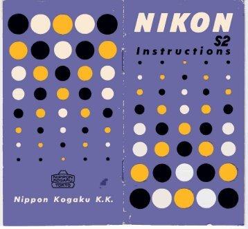 Nikon S2 Rangefinder Instruction Manual - NikonWeb.com