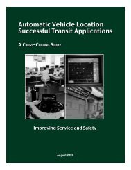 Automatic Vehicle Location, Successful Transit Applications, A Cross