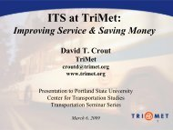 Improving Service & Saving Money - Center for Transportation ...