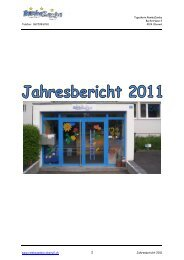 Jahresbericht 2011 - Tagesheim Rambazamba Oberwil BL