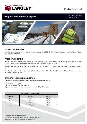 Sbs Modified Bitumen Mastic Soprema Inc