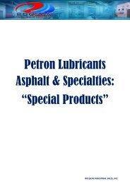 """Petron Lubricants Asphalt & Specialties: """"Special Products"""""""