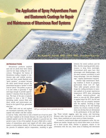 The Application of Spray Polyurethane Foam and ... - RCI, Inc.