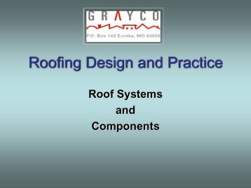Roofing Design and Practice - Grayco-online.com