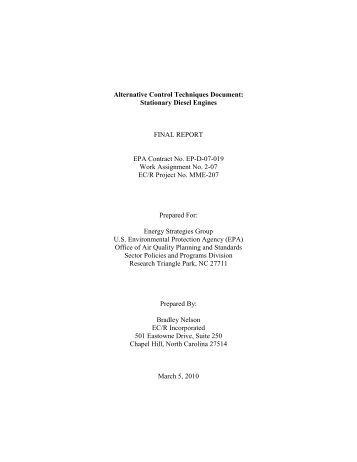 Alternative Control Techniques Document: - US Environmental ...
