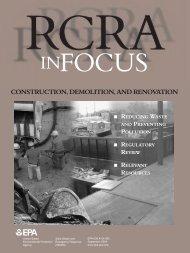 RCRA in Focus: Construction, Demolition, and Renovation (PDF