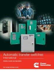 Brochure - Automatic transfer switches - Cummins Inc.