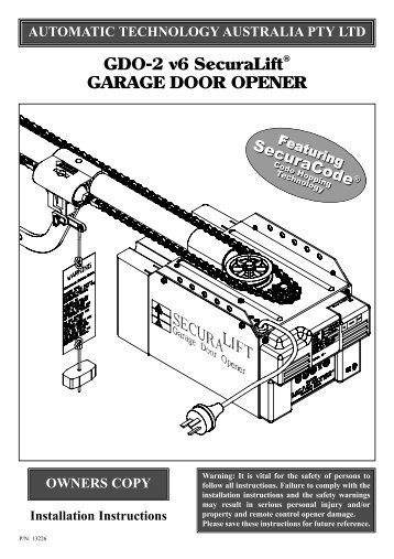 Ata Gdo 7v3 User Manual National Garage Doors And Openers