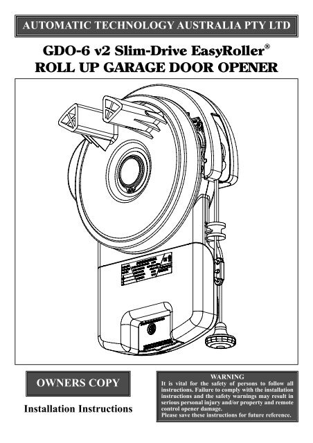 Gdo 6 V2 Slim Drive Easyroller Roll Up Duro Pressings