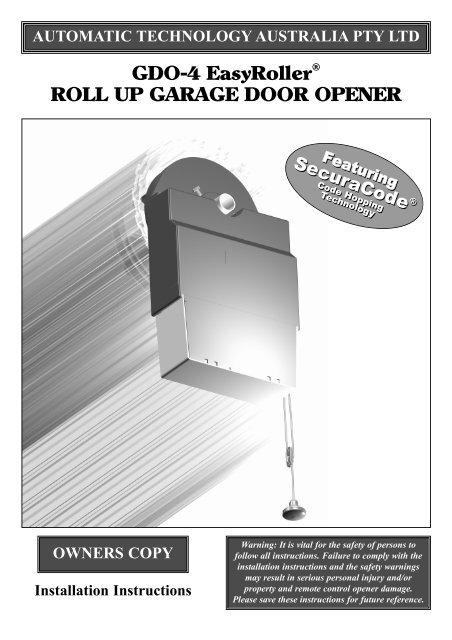 Gdo 4v3a Easyroller Manual National Garage Doors And Openers