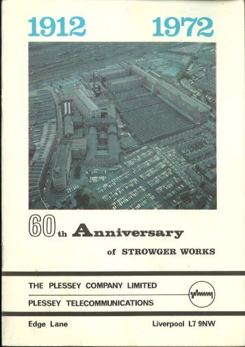 60 Years of Strowger Works - Plessey 1972 Publication - Edge Lane