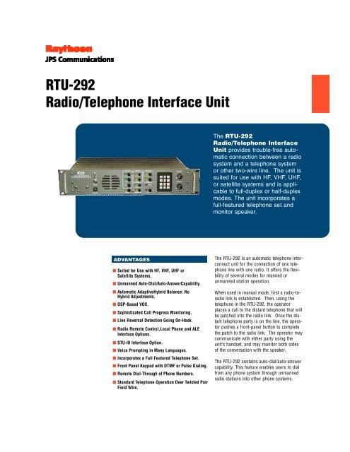 RTU-292 Radio/Telephone Interface Unit - Lauttamus