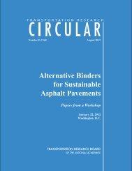 Alternative Binders for Sustainable Asphalt Pavements