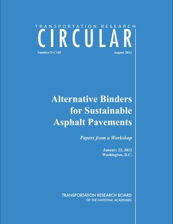 Alternative Binders for Sustainable Asphalt Pavements