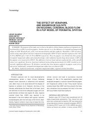 the effect of verapamil and magnesium sulfate on regional cerebral ...