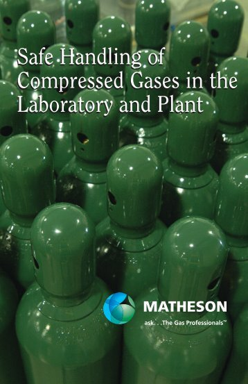 Safe Handling of Compressed Gases in the Laboratory and Plant ...