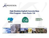 High Modulus Asphalt Concrete Base Pilot Program ... - Resperion