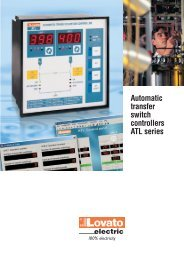 Automatic transfer switch controllers ATL series - LOVATO Electric SpA