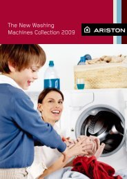 The New Washing Machines Collection 2009 - Ariston