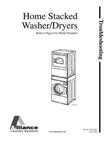 Commercial/Homestyle Stack Washer/Dryer Specifications