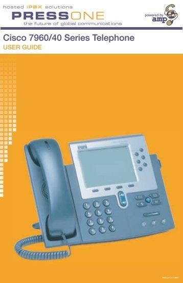 Cisco 7960 Phone User Guide - Pressone.net