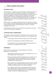 Mastic asphalt information - Mastic Asphalt Council