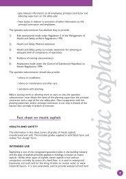 Fact sheet on mastic asphalt - Mastic Asphalt Council