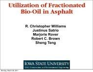 Utilization Of Fractionated Bio-Oil In Asphalt