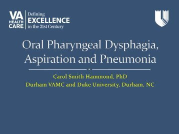 Carol Smith Hammond, PhD Durham VAMC and Duke University ...