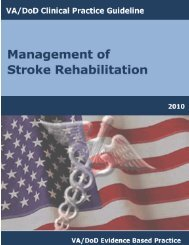 Stroke Full Guideline - VA/DoD Clinical Practice Guidelines Home