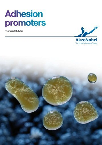 Adhesion promoters for bitumen, Technical Bulletin - AkzoNobel ...