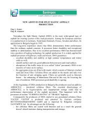 NEW ADITIVES FOR SPLIT MASTIC ASPHALT PRODUCTION ...