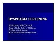 DYSPHAGIA SCREENING