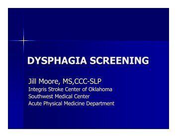 DYSPHAGIA SCREENING