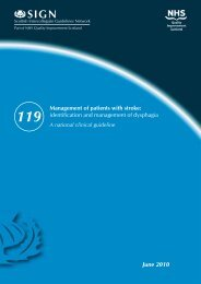 Management of patients with stroke: identification and ... - SIGN