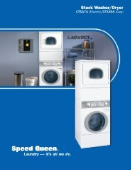 Stack Washer/Dryers - Speed Queen