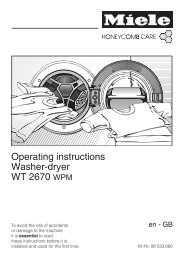 Operating instructions Washer-dryer WT 2670 WPM - Miele