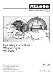 Operating instructions Washer-dryer WT 2780 - Miele