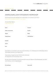 ANMELDUNG ZUM FOTOGRAFIE-WORKSHOP - Spiekeroog