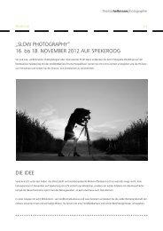 """""""SLOW PHOTOGRAPHY"""" 16. bis 18. NOVEMBER ... - Spiekeroog"""