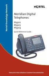 Meridian Digital Telephones M3902, M3903, M3904 Quick ...