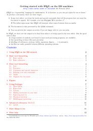 Guide to using LaTeX with TeXworks on the - School of Mathematics ...