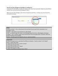 How Do I Use the Catalogue - Welland Public Library