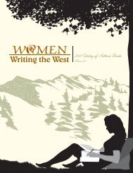 2013 Catalog of Authors Books - Women Writing the West