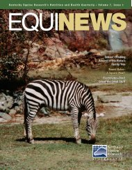 to view Equinews Articles in pdf - Kentucky Equine Research