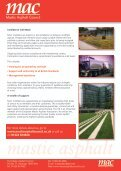 The Mastic Asphalt Council Fact Sheet - Ecobuild - Page 2