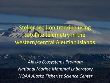Fadely - National Marine Fisheries Service Alaska Region - NOAA