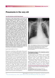Pneumonia in the very old