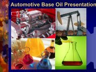 Automotive Base Oil Presentation. - SynMax Performance Lubricants