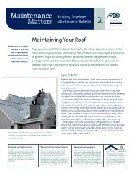 Maintaining Your Roof - Homeowner Protection Office
